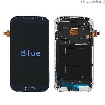 For Samsung Galaxy S4 i9505 Full LCD Display Touch Screen Glass Digitizer Frame