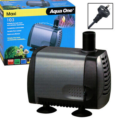 Aqua One Maxi 103 Submersible Aquarium Fish Pond Water Fountain Pump 1200lph