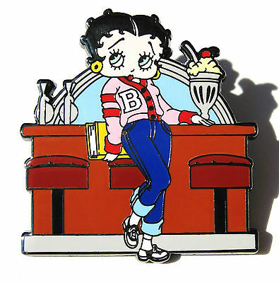Willabee & Ward Betty Boop '40s '50s Letter Sweater BOBBY SOXER Malt Shop Pin