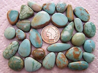 29 Crow Springs Turquoise Lot 270 carats Cabochons Cabs Nevada American USA