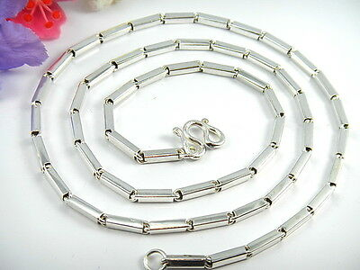 """RARE CLASSIC THAI BAHT SILVER BAR LINK CHAIN 925 Sterling Necklace 17.5"""" 20"""" 23"""""""