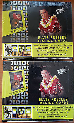 2 Box Set Elvis Presley Lives + The Música Cromos Coleccionables Box, Sellado