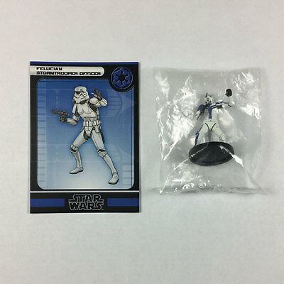 Star Wars Miniatures Force Unleashed #35 Felucian Stormtrooper Officer (w/card)