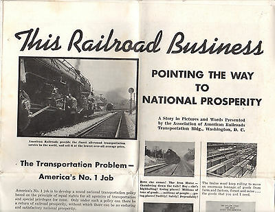 1938 Association of American This Railroad Business Story in Pictures and Words