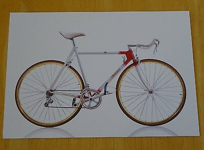Cyclepedia Postcard ~ Iconic Bicycles ~ 3Rensho Super Record Export ~ Japan,1984
