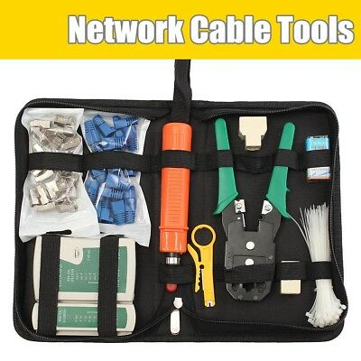 Internet Network Cable Tester Wire Crimp LAN RJ45 RJ11 CAT5 Analyzer Tool Kits