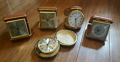 Vintage travel clock - set of 5 vintage