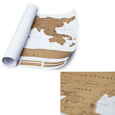 Scratch Off World Map Poster Personalized Travel Vacation Personal Log Gift