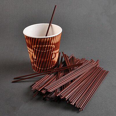 100PCS Drinking Straw Coffee Straws For Hot Drinks Stirring Two Holes