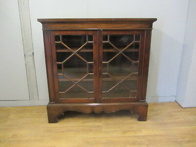 Beautiful Antique Dwarf Astral Glazed Walnut bookcase