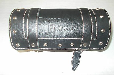 Royal Enfield  Pure Black Leather Made Tool Bag Roll