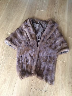 Beautiful Authentic Vintage Mink Real Fur Stole