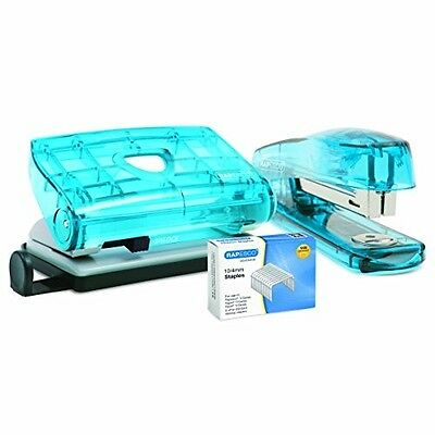 Rapesco Hole Punch And Stapler Set With 1,000 10/4mm Staples