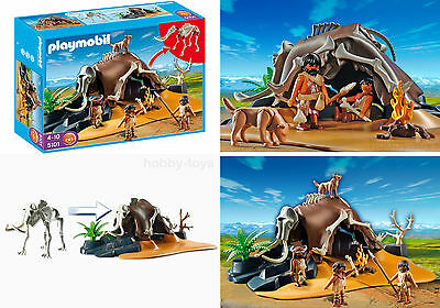 * Playmobil * Mammoth Skeleton Cave With Cavemen (5101) * Brand New Sealed *