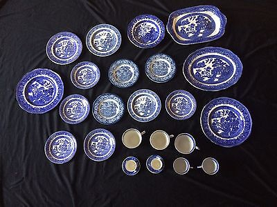 Twenty Five Pieces Of Vintage Blue And White China