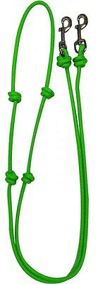 Showman LIME GREEN Western Nylon Barrel Reins w/ Snaps! NEW HORSE TACK!