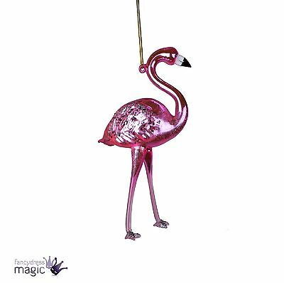 Sass Belle Flamingo with Feathers Hanging Decoration Xmas Christmas Home Gift