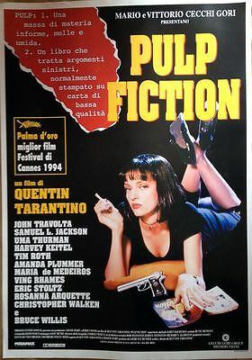 PULP FICTION di Quentin Tarantino poster film ediz. italiana 70x100