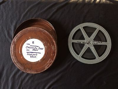 """Vintage 9.5mm Charlie Chaplin """"The Perfect Lady"""" 575ft Film In Metal Case"""