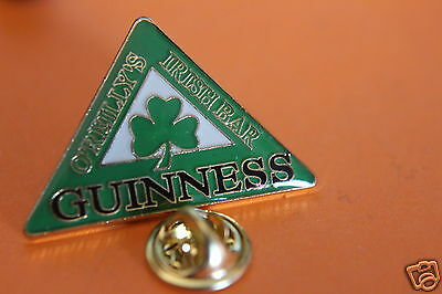 GUINNESS o'reilly's irish bar green TIE OR LAPEL pin badge.unused