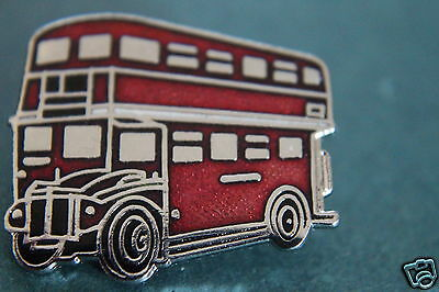 London  Red Double Decker Bus  Pin Badge