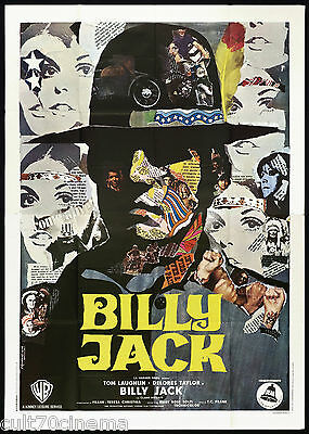 Billy Jack Manifesto Cinema Film Iaia Tom Laughlin Action 1971 Movie Poster 4F