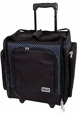 Papermania Liquorice Dot Wheelable Craft Tote, Black