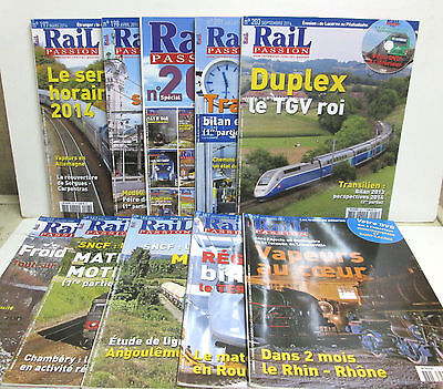 """ RAIL PASSION "" Lot  N°9 - 10 Numeros : 123-163-164-167-169-197-198-200-201-203"