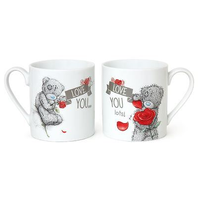 Me to You Double Mug Set Love You Valentines Gift - Tatty Teddy Bear