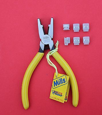 "MILLS Data & Network Telecoms Jelly Crimp Tool with ""6 3M Scotchlock UB2"" NEW"