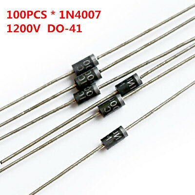 100Pcs/Lot 1N4007 4007 1A 1200V DO-41 Rectifier Diode Free Shipping