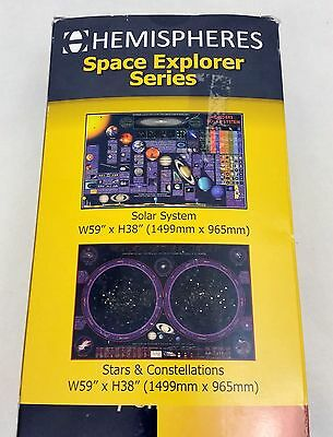 2 Space Series Solar System Constellations Wall Charts School Classroom Posters