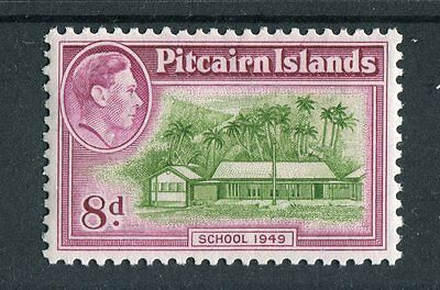 Pitcairn Islands KGVI 1940-51 8d olive-green & magenta SG6a mounted mint