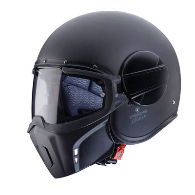 Caberg Ghost Open Face Motorbike Motorcycle Helmet With Face Mask Matt Black