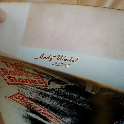 ROLLING STONES Sticky Fingers C0C UK 1st press A3B3 Andy Warhol cover ZIP Nr Ex