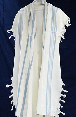 NONSLIP WOOL TALLIT - Jewish Prayer Shawl - Non Slip - Kosher - SIZE 50