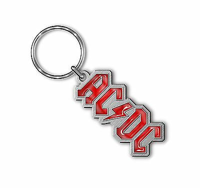 AC/DC Keyring Keychain Classic Lightning band Logo Official New Metal One Size