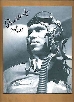 Roscoe Brown Tuskegee Airmen Autographed 8x10 Picture Autograph Red Tails Airman