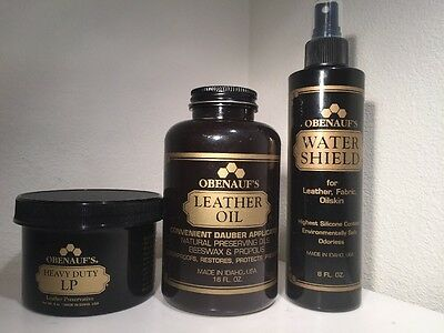 Obenauf's Combo Package! + FREE GIFT! LP Leather Oil Water Shield Made in USA