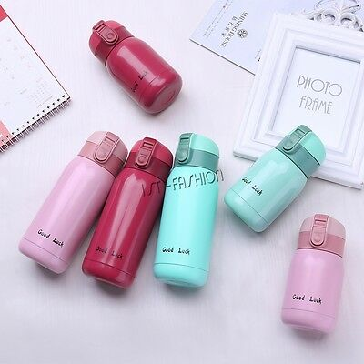 Mini Vacuum Mug Bounce Cap Thermos Stainless Steel Travel Cup Hot Water Bottle