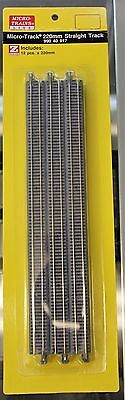 Z Scale - MICRO-TRAINS MTL 990 40 917 Straight Track Pack - 220mm x 12 Pieces