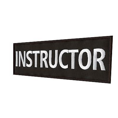 "Instructor Large XL 10""x4"" police 25x10cm SWAT bordado parche fastener patch"