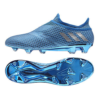 Adidas Messi 16+ Pureagility Fg Soccer Cleats Men's Size Us 8 Uk 7.5 Blue S76488