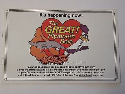 Original 1969 Great Plymouth Sale Brochure Barracuda Valiant Fury More Listed