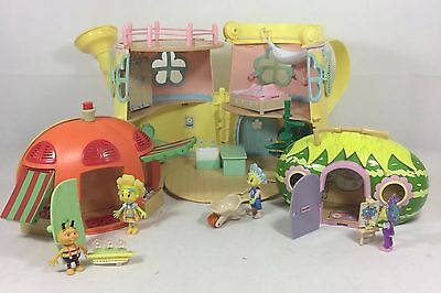 Fifi & The Flowertots Bundle Watering Can House + 2 Houses Figures & Accessories