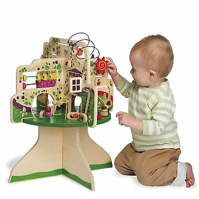 Baby Activity Toy Wooden Toddler Kid Learning Play Fun Center Gift
