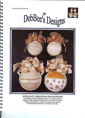 DebBee's Designs Elegant Christmas Ornaments - Counted Canvas NeedlePoint