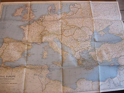 1939 National Geographic Map Central Europe & Mediterranean LOTS More Listed