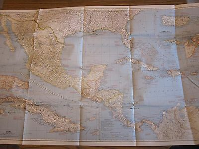 1939 National Geographic Map Mexico Central America West Indies LOTS More Listed