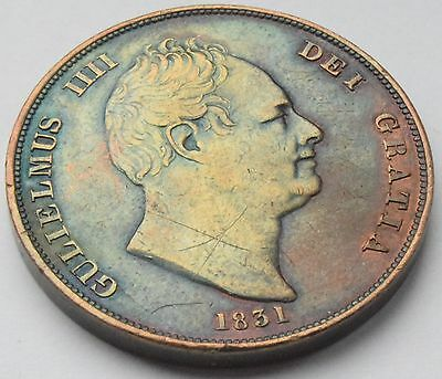 Great Britain 1831 King William IV Copper Penny High Grade Coin KM# 707